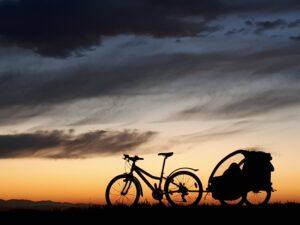 Fahrrad Abendstimmung Paragliding Fluggebiet