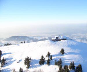 Fluggebiet Hochries Winter Schnee Gipfel