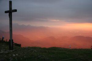 Startplatz Hochries Paragliding Sonnenuntergang