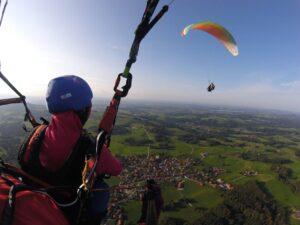 Gleitschirm Partnerflug Paragliding zu Zweit