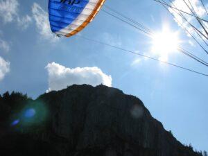 Berge Gleitschirm Thermikflug Gipfel Tandem