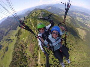Aussicht Gipfel Hochries Gleitschirmflug