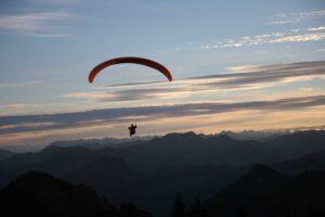 Blick Zugspitze Alpenflug Gleitschirm