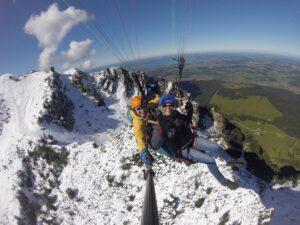 Hochfelln Bergen Chiemsee Tandemflug Paragliding Gleitschirmfliegen