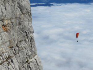 Alpenüberquerung Gleitschirm Klettersteige