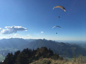 Bayern Chiemsee Gleitschirm Tandemflug Aktivitäten