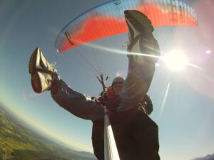 Paragliding Tandemflug Hochfelln Gleitschirmflug