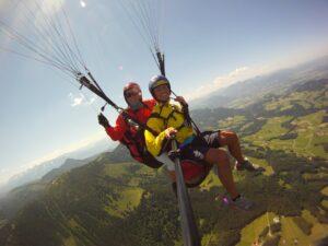 Tandem Paragliding Hochries Bayern Chiemsee
