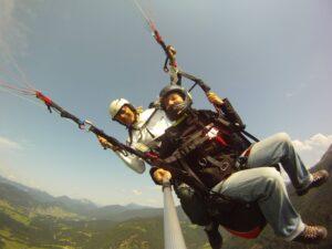 Paragliding Tandemflug Kössen Unterberghorn