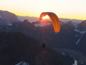 Geschenkgutschein Paragleiten Paragliding Abendflug