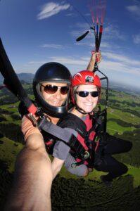Gutschein Gleitschirm Tandemfliegen Paragliding München