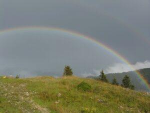 Aschauer Tal Gewitter Regenbogen