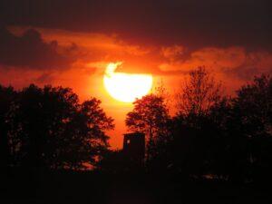 Paragliding Fluggebiet Sonnenuntergang Wetter